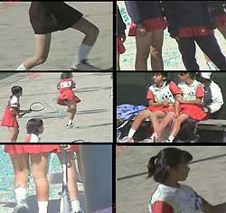 アクションガールズ 元気な女子中学生のテニス大会 1